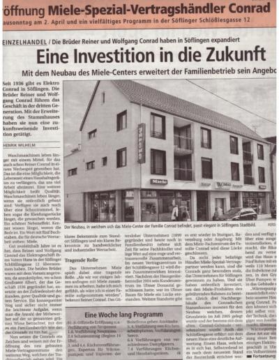 Wochenblatt_29.03.2006 - Neueröffnung